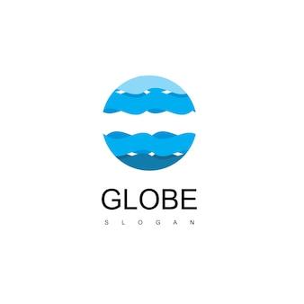 Modelo de design de logotipo globe