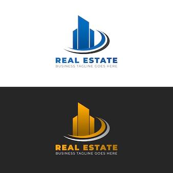 Modelo de design de logotipo imobiliário