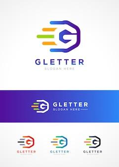 Modelo de design de logotipo letra g