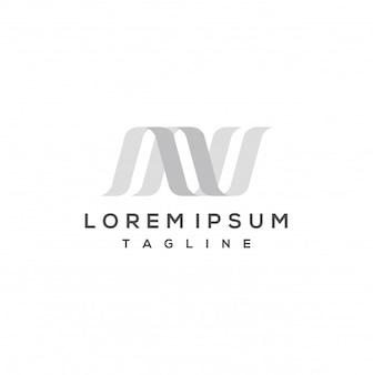 Modelo de design de logotipo letra n