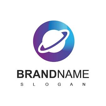 Modelo de design de logotipo letter o planet
