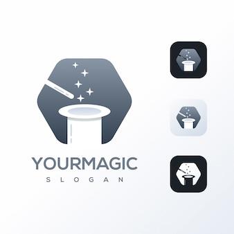Modelo de design de logotipo mágico pronto para uso