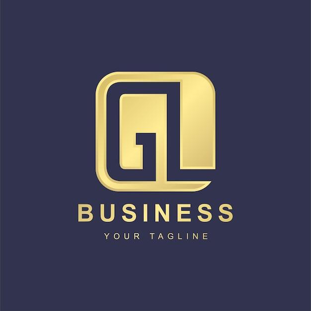 Modelo de design de logotipo minimalista de letras gl