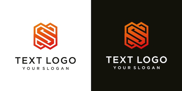Modelo de design de logotipo mínimo abstrato letra s inicial