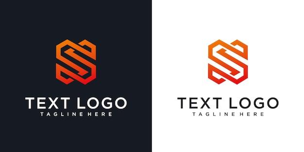 Modelo de design de logotipo mínimo da letra s inicial