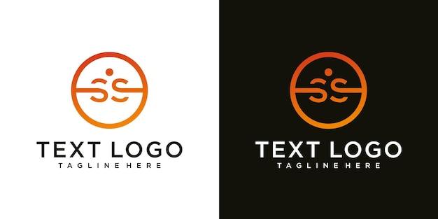 Modelo de design de logotipo mínimo de letra inicial ss s abstrato
