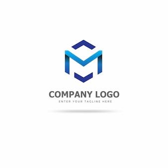 Modelo de design de logotipo moderno m