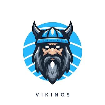 Modelo de design de logotipo moderno vikings