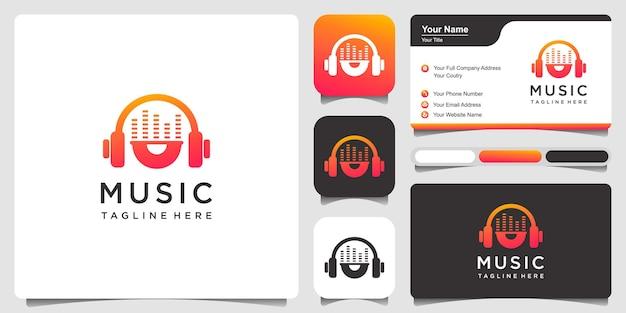 Modelo de design de logotipo musical