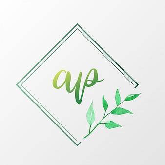 Modelo de design de logotipo natural para branding, identidade corporativa.