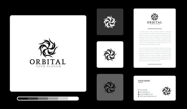 Modelo de design de logotipo orbital