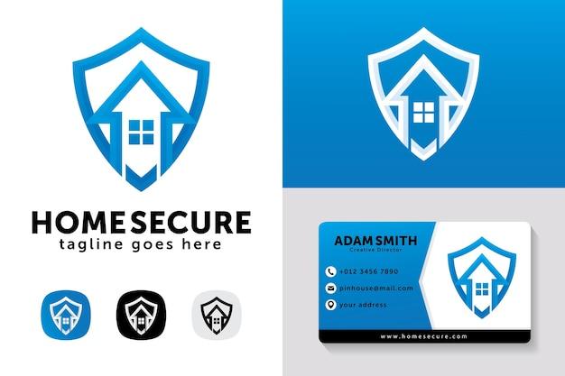 Modelo de design de logotipo para casa segura