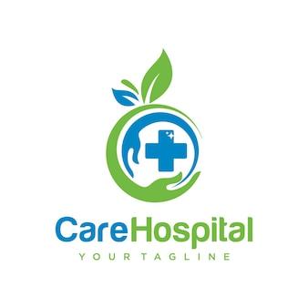 Modelo de design de logotipo para cuidados com as mãos
