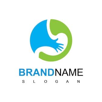 Modelo de design de logotipo para cuidados com o estômago