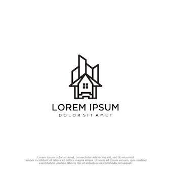 Modelo de design de logotipo para edifícios e imóveis