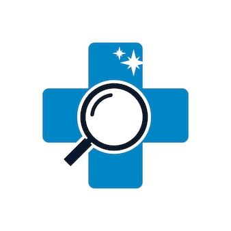 Modelo de design de logotipo para exame de saúde