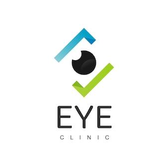 Modelo de design de logotipo para verificação de olho, ícone de olho bom