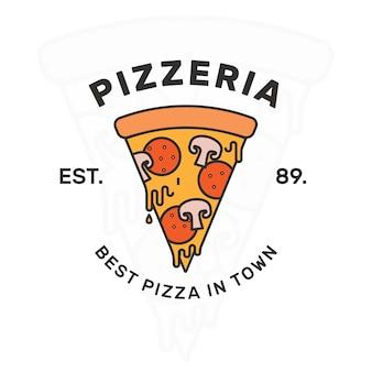 Modelo de design de logotipo pizza