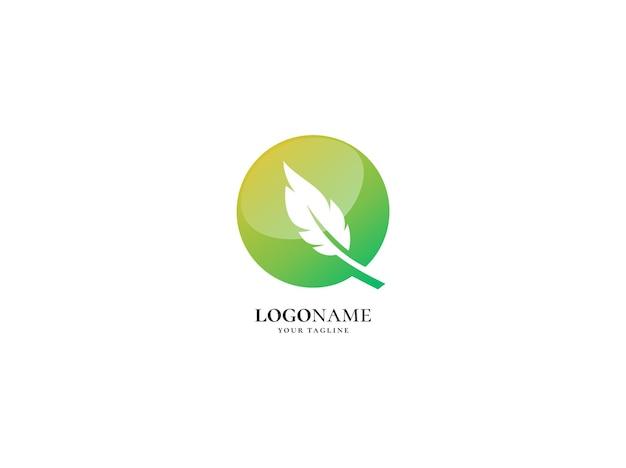 Modelo de design de logotipo quill