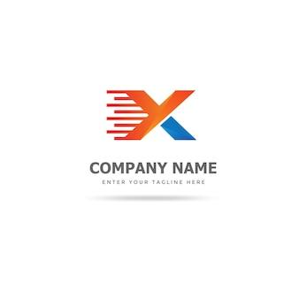Modelo de design de logotipo rápido x moderno