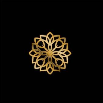 Modelo de design de logotipo - símbolo abstrato em estilo árabe ornamental