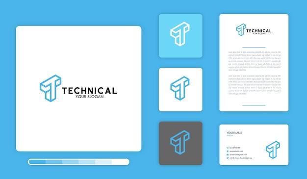 Modelo de design de logotipo técnico