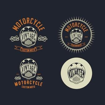 Modelo de design de logotipo vintage de motocicleta costum