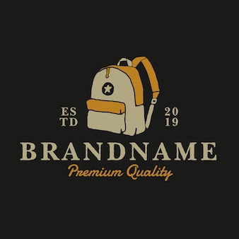 Modelo de design de logotipo vintage de saco