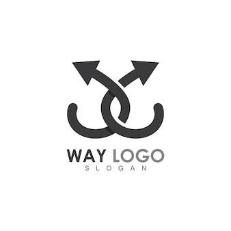 Modelo de design de logotipo way