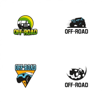 Modelo de design de logotipos off road