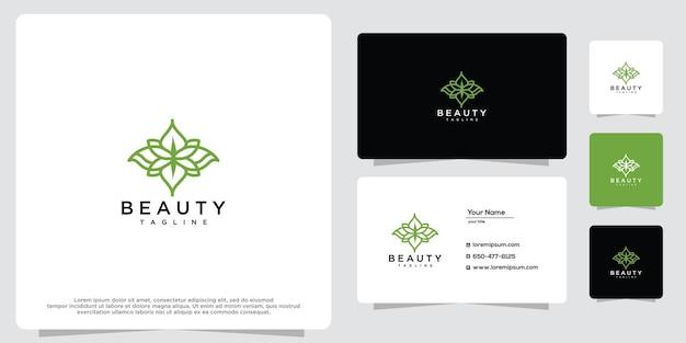 Modelo de design de luxo de flores de beleza