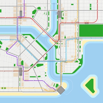 Modelo de design de mapa de metrô ou metrô. conceito de esquema de transporte da cidade.