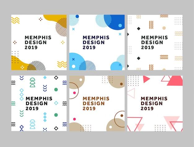Modelo de design de memphis
