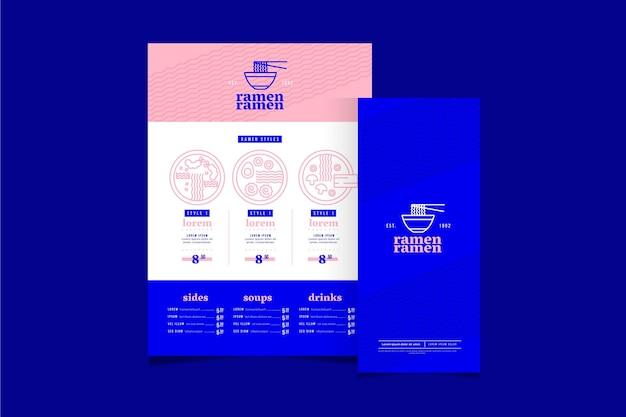 Modelo de design de menu de ramen