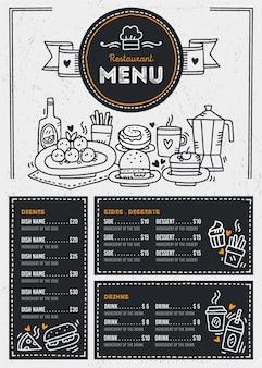 Modelo de design de menu de restaurante
