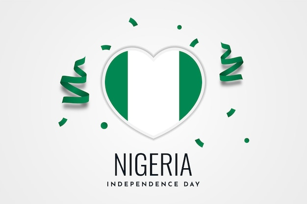Modelo de design de modelo de fundo para celebração do dia da independência da nigéria
