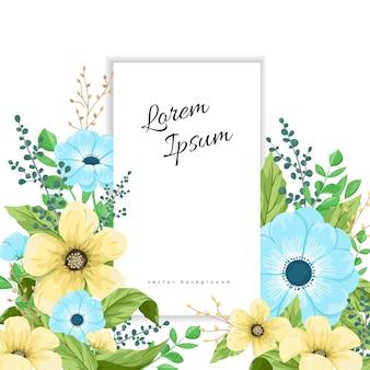 Modelo de design de moldura de flores elegantes.