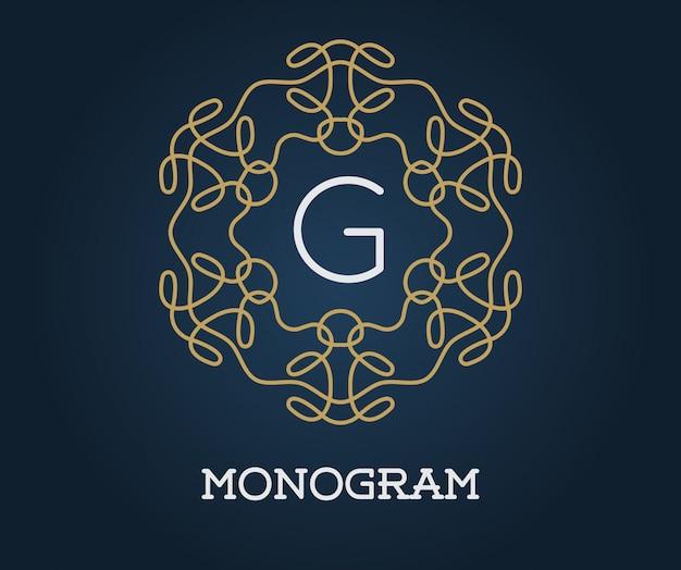 Modelo de design de monograma com letra g