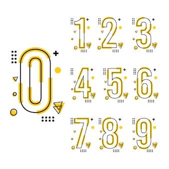 Modelo de design de número de tendência