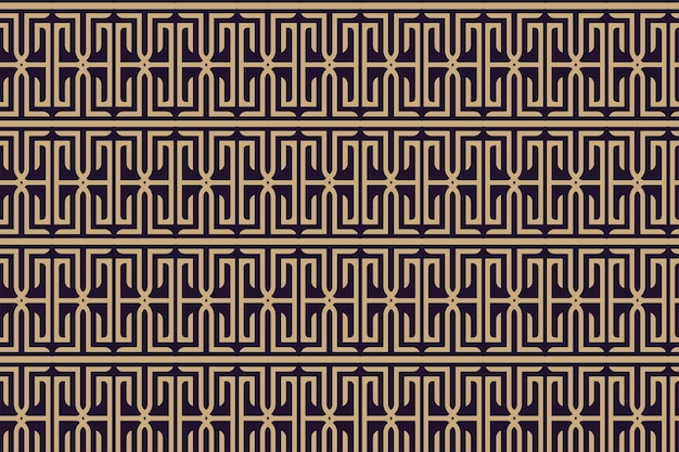Modelo de design de padrão geométrico sem emenda abstrato. ilustração em vetor com fundo roxo e elemento ouro