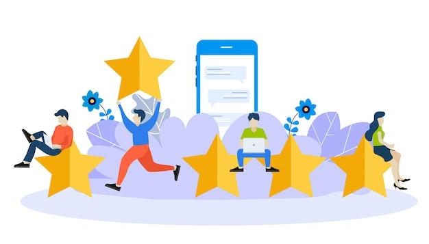 Modelo de design de página da web para feedback