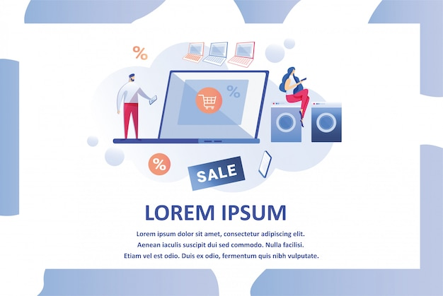 Modelo de design de página da web para loja de eletrônicos