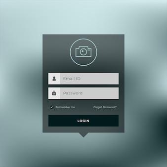 Modelo de design de página de login de membro Vetor grátis