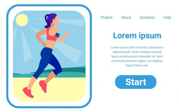 Modelo de design de página de vetor de projeto on-line na moda