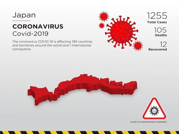 Modelo de design de país afetado pela doença de coronavírus