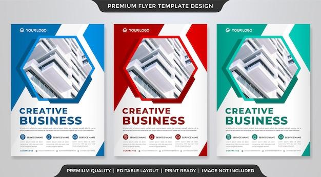 Modelo de design de panfleto comercial