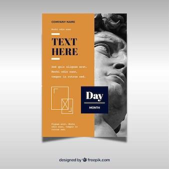 Modelo de design de panfleto criativo