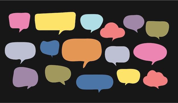Modelo de design de papel de corte de bolha de discurso colorido ilustração vetorial para a sua apresentação de negócios