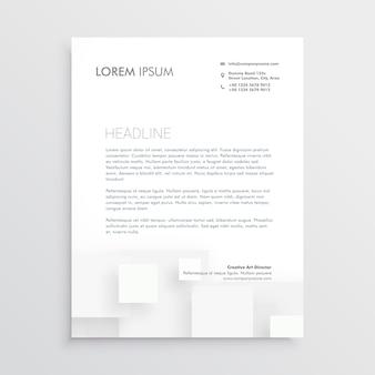 Modelo de design de papel timbrado branco mínimo