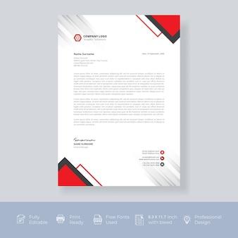 Modelo de design de papel timbrado criativo moderno